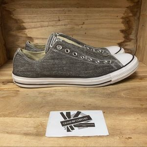 Converse all stars laceless gray white sneakers